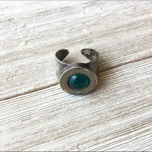Vintage Sterling silver sight ring